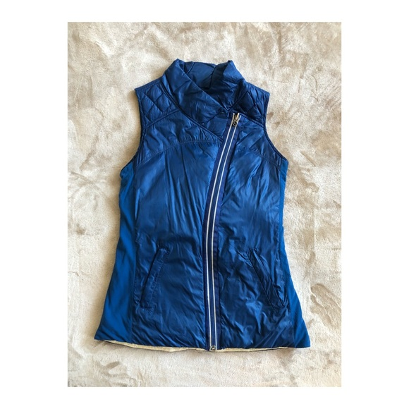 Lululemon blue reversible What the Fluff Vest